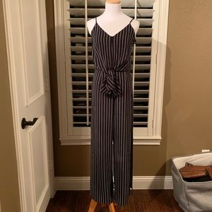NWT Cute black and white striped jumpsuit